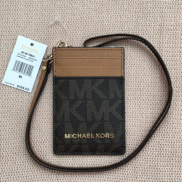 90bfb6b8c4f407 Michael Kors Accessories | Last One Mk Jet Set Lanyard Id Card Case ...